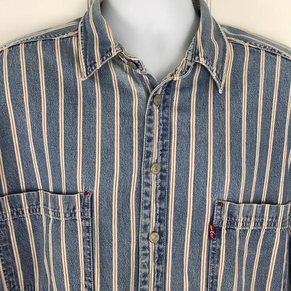 b8d43127b77 Levi s Other - Vintage Levi s Denim Shirt Striped Mens XL